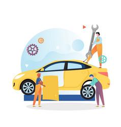 Car mechanic and repair shop concept vector