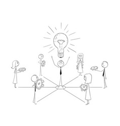 Cartoon of business team and leader working togeth vector