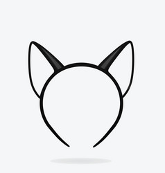 cat ears mask vector image