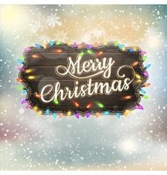 Christmas Calligraphy - Vintage Signboard EPS 10 vector
