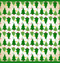 christmas tree pattern background vector image