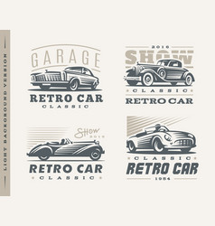 classic cars on light background vector image