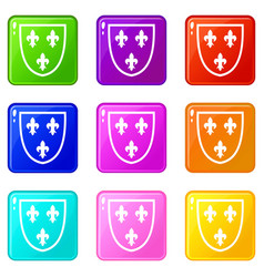 crest set 9 vector image