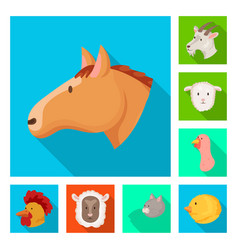 Design agriculture and breeding icon vector