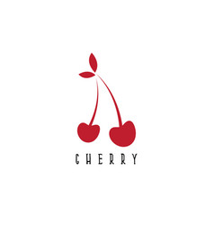 Design template abstract cherry vector