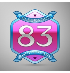 Eighty three years anniversary celebration silver vector