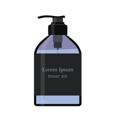 Essential oil bottle spray soap pump vector