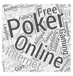 Fallacy of online poker gaming Word Cloud Concept vector