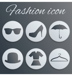 Fashion realistic button set vector image