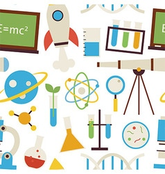 Flat Seamless Pattern Science and Education vector image