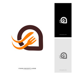 food talk logo concept designs food discuss logo vector image
