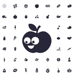 Funny apple icon vector