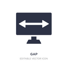Gap icon on white background simple element from vector