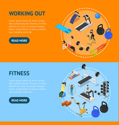 gym with exercise and gymnastic equipment concept vector image
