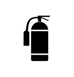 icon fire extinguisher isolated fire danger vector image