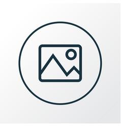 image icon line symbol premium quality isolated vector image