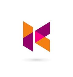 Letter K mosaic logo icon design template elements vector image