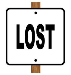 Lost square sign vector