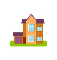 Modern Style Suburban House Exterior Design With vector