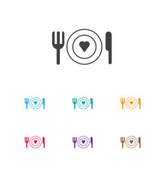 Of amour symbol on restaurant vector