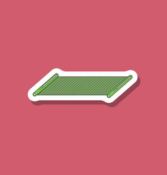 Paper sticker on stylish background mat for vector