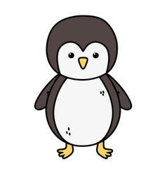 penguin polar animal bird icon vector image