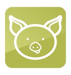 Pig icon Farm animal vector