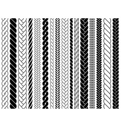 plaits and braids pattern brushes knitting vector image