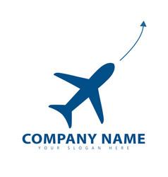 Plane logo vector