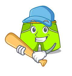 Playing baseball character style short pant for vector