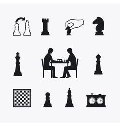 Playing chess vector image