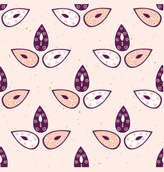 pretty stylized 3 leaves pattern seamless vector image