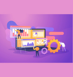 Professional business research flat vector