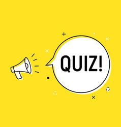 Quiz alert loudspeaker pop icon answer vector