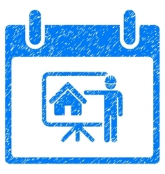 Realty Developer Calendar Day Grainy Texture Icon vector image