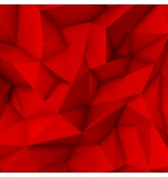 Red Abstract Polygonal Background vector