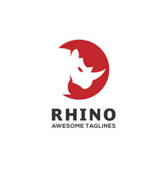 Rhino circle logo vector