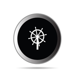 rudder button vector image
