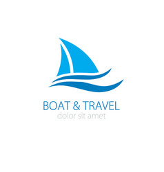 sailboat logo vector image