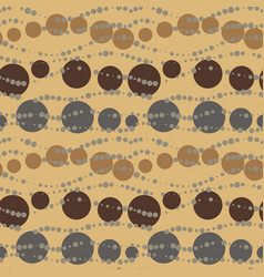 Seamless chocolate retro beads pattern vector