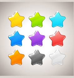 set colorful stars gui elements for mob vector image