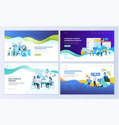 set web page design templates vector image