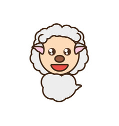 sheep baby animal kawaii design vector image