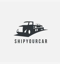 shipping car logo icon template vector image