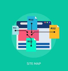 Sitemap conceptual design vector