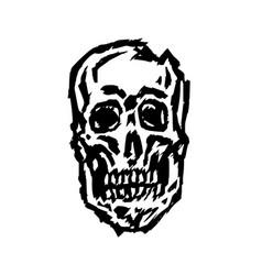 spooky skull horror character creepymask vector image