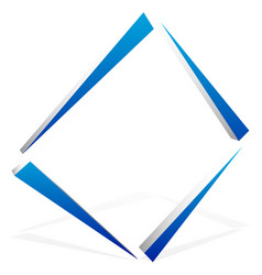 Square geometric element abstract square symbol vector