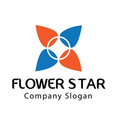 Star Flower Design vector