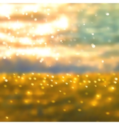 sunset on sea vector image