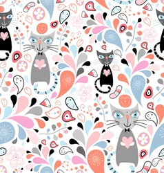 texture of funny cats vector image